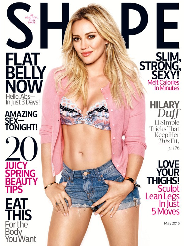 Hillary Duff on Shape cover
