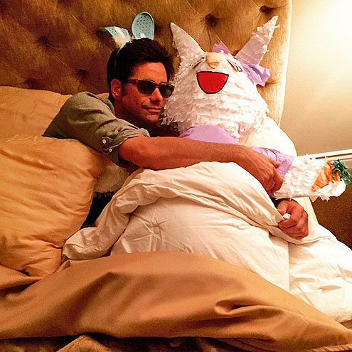 JOHN STAMOS: REALLY WITH THE EASTER BUNNY