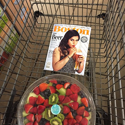 WHEN B.J. BOUGHT MINDY'S MAGAZINE COVER
