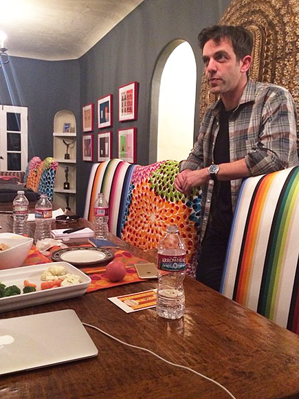 WHEN MINDY INVITED B.J. OVER FOR CRUDITéS