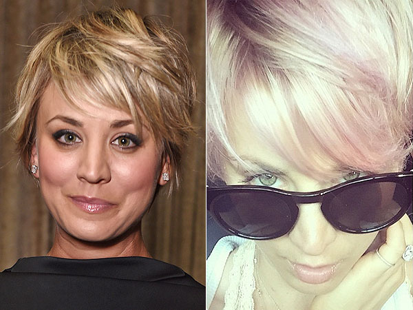 Kaley Cuoco dyes her hair pink