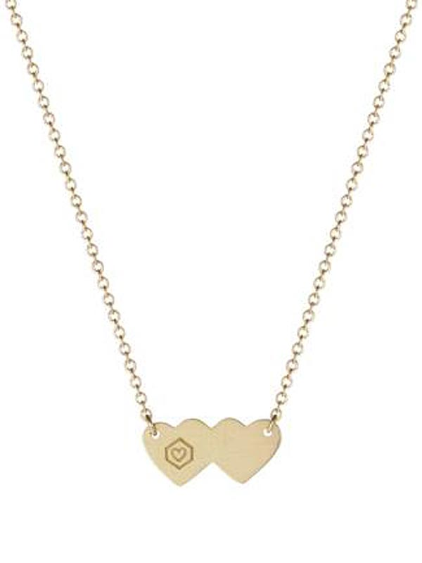 Gray Foundation Double Heart Pendant