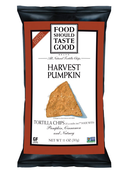 HARVEST PUMPKIN TORTILLA CHIPS