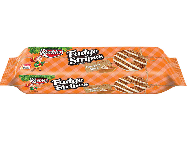 KEEBLER PUMPKIN SPICE FUDGE STRIPE COOKIES