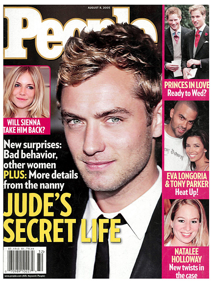 2005: JUDE LAW'S CHEATING SCANDAL