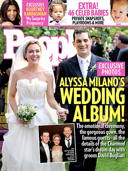 2009: ALYSSA MILANO SAYS 'I DO'