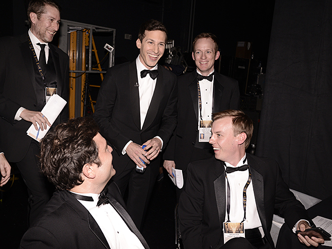 ANDY SAMBERG & THE PRODUCTION CREW