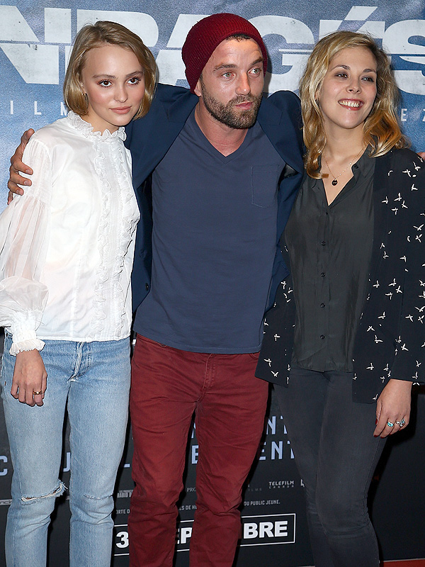 Lily-Rose Depp, Alysson Paradis and Guillaume Gouix