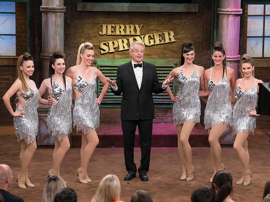 THE JERRY SPRINGER SHOW -- Season 25 -- Pictured: (l-r) -- (Photo by: Virginia Sherwood/NBC)