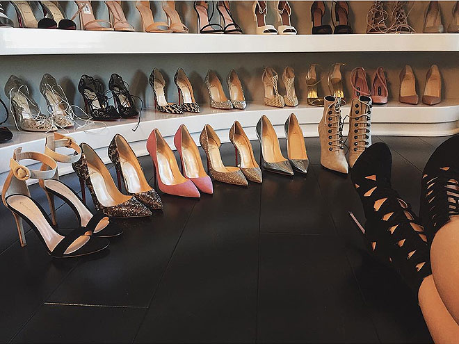 A WALL OF LOUBOUTINS