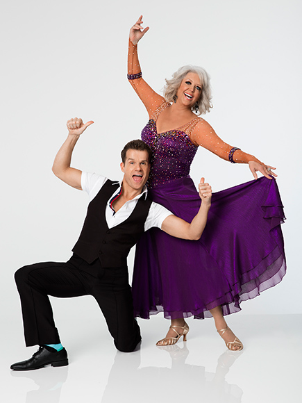 Louis van Amstel and Paula Deen