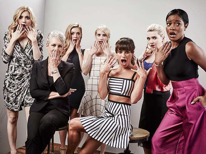 THE CAST OF SCREAM QUEENS
