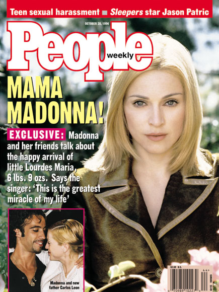1996: MADONNA, NOW WITH CHILD