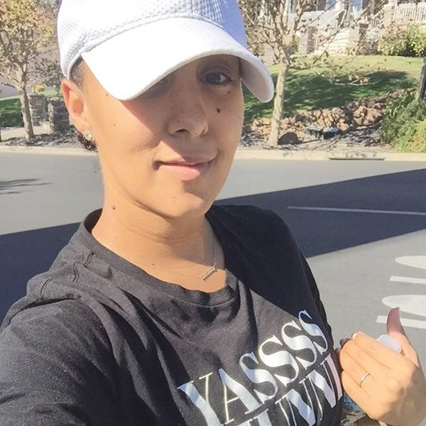 Tamera Mowry-Housley post c-section workout