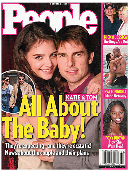 2005: TOM & KATIE HAVE A BABY ON THE WAY