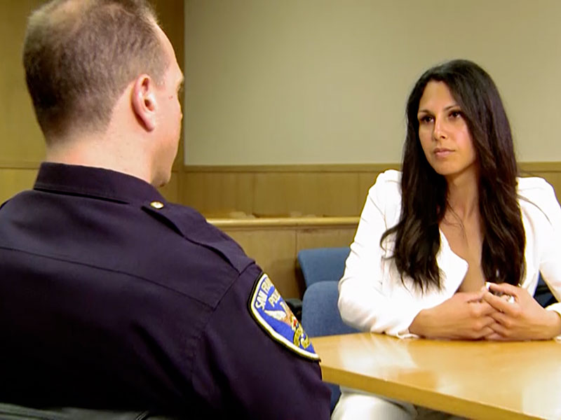 Xristina talks to SFPD Officer Broderick Elton on Transcendent.