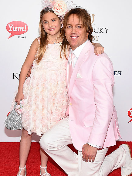 LOUISVILLE, KY - MAY 02:  Dannielynn Birkhead (L) and Larry Birkhead attend the 141st Kentucky Derby at Churchill Downs on May 2, 2015 in Louisville, Kentucky.