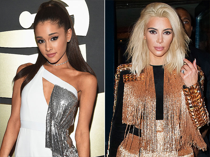 Ariana Grande Kim Kardashian Yahoo Most Fashionable Female Celebrities 2015