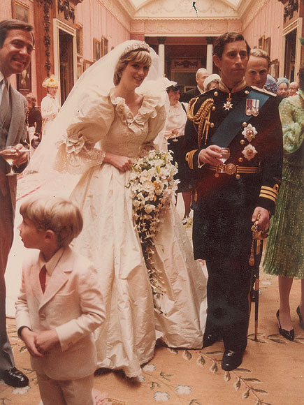 Prince Charles and Princess Diana After Saying Vows