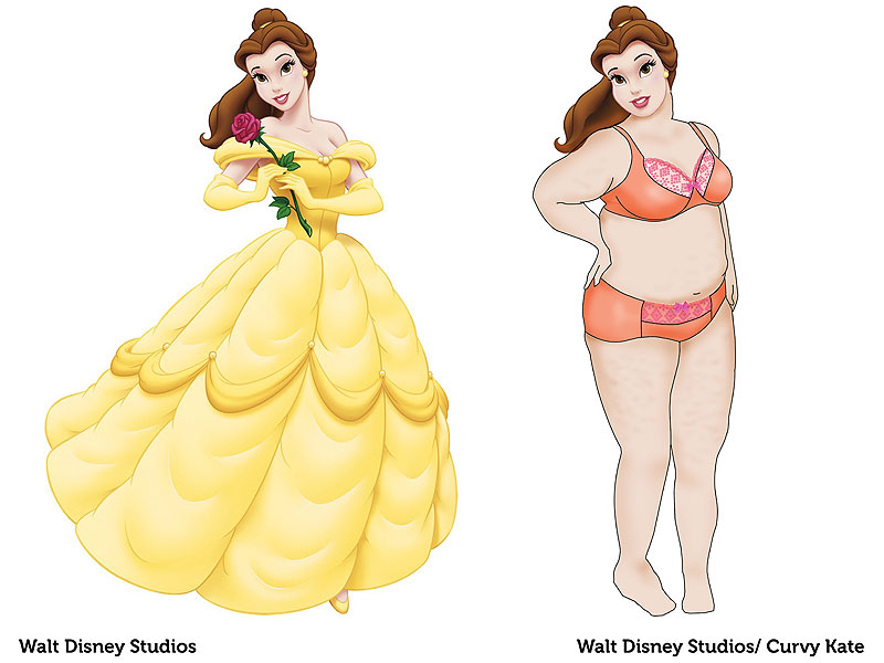 See The Disney Princesses Re Imagined With Real Body Types
