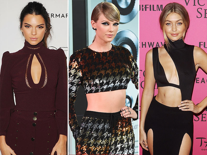 Kendall Jenner Taylor Swift Gigi Hadid Yahoo Most Fashionable Female Celebrities 2015