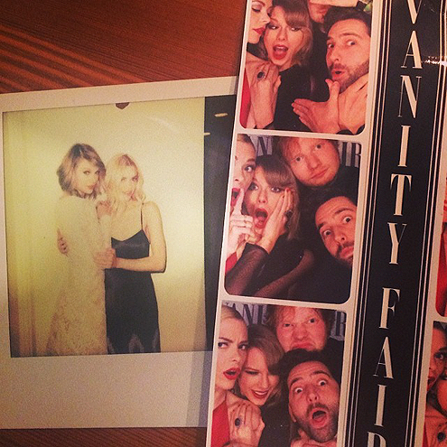 SHE HITS THE PHOTO BOOTH