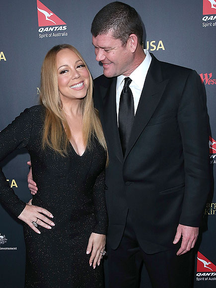 LOS ANGELES, CA - JANUARY 28: (L-R) Mariah Carey and James Packer attend the 2016 G'Day Los Angeles Gala at Vibiana on January 28, 2016 in Los Angeles, California. (Photo by Images)