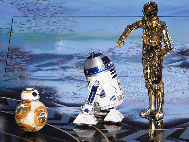 THE STAR WARS DROIDS MADE AN APPEARANCE