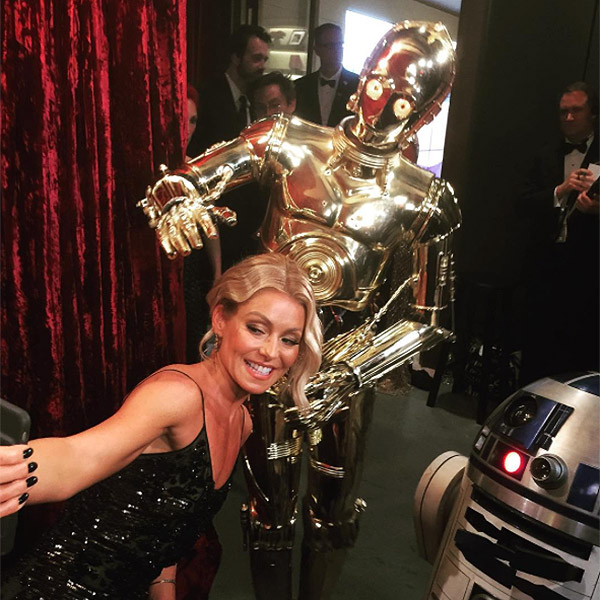 AND KELLY RIPA GOT IN ON THE FUN, TOO