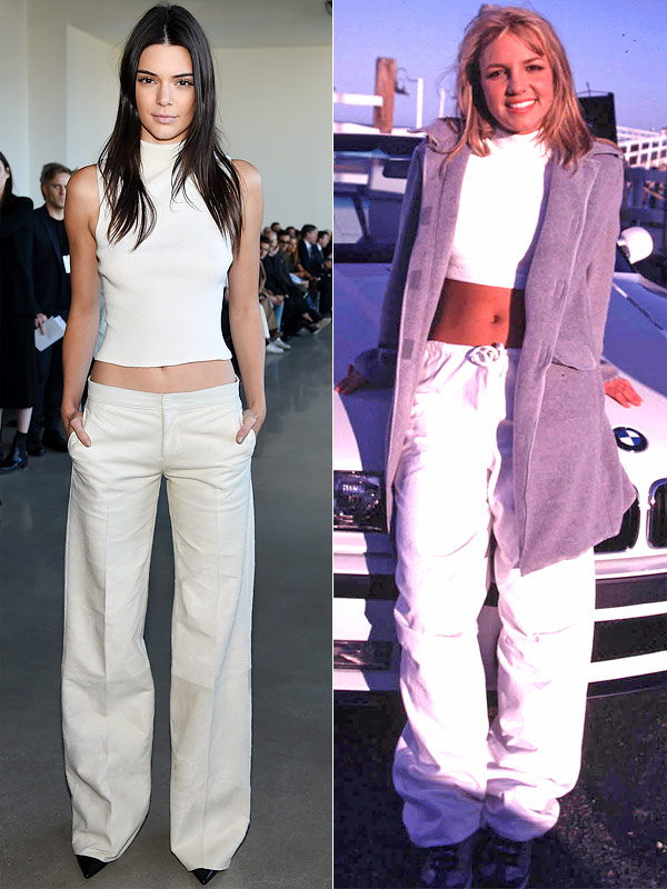 Kendall Jenner Channels 90s Britney Spears During Fashion Week People Com