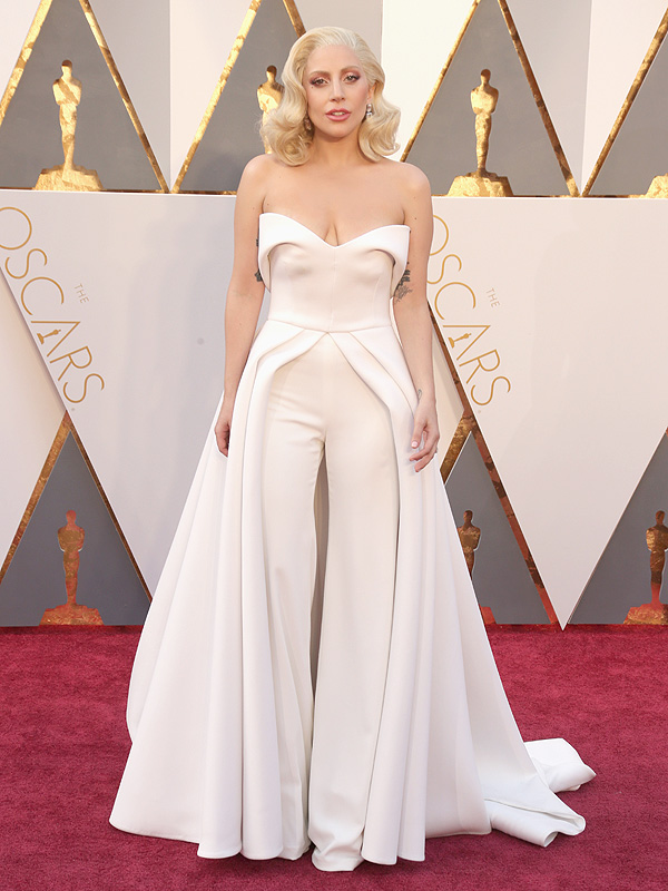 Lady Gaga Oscars gown suit