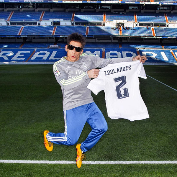 HE 'JOINED' THE REAL MADRID SOCCER CLUB