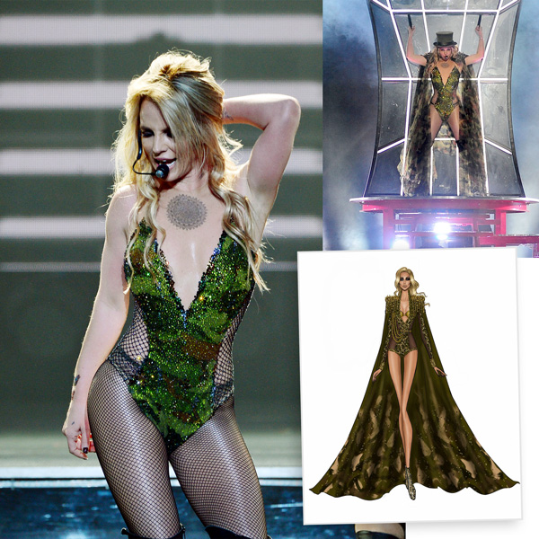Britney Spears Las Vegas Pieces of Me Costumes