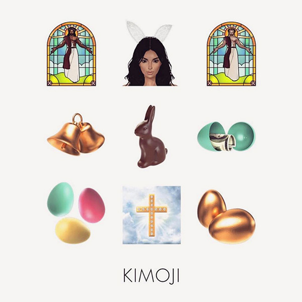 TEXT EXCLUSIVELY IN EASTER-THEMED KIMOJI