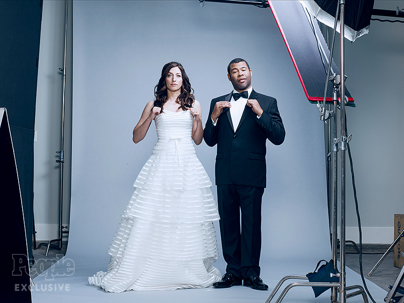 Chelsea Peretti and Jordan Peele for their new ad campaign for Booking.com 4/1/16 Courtesy Booking.com