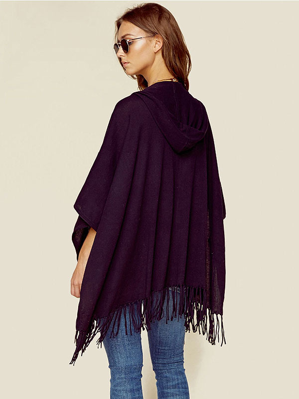 Minnie Rose Fringe Shawl Planet Blue
