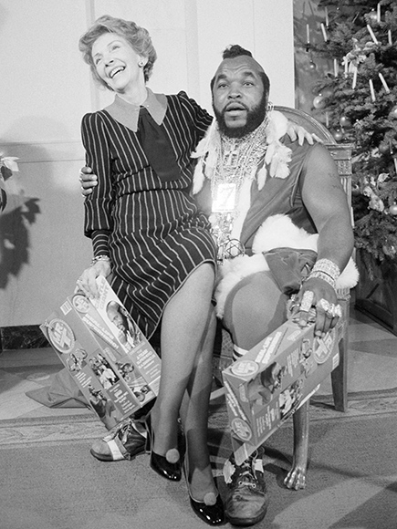 Nancy Reagan and Mr T
