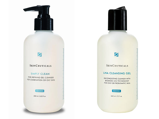 SKINCEUTICALS LHA CLEANSING GEL AND SIMPLY CLEAN