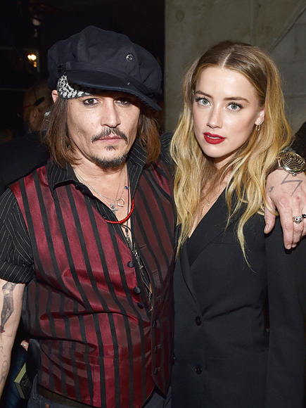 Depp and Heard at the Grammys in February 2016.