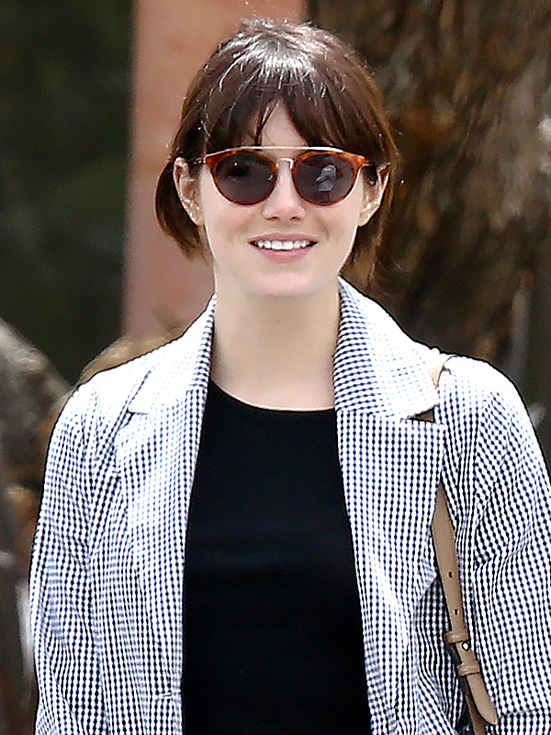 *EXCLUSIVE* Emma Stone catches up with old friends in Malibu