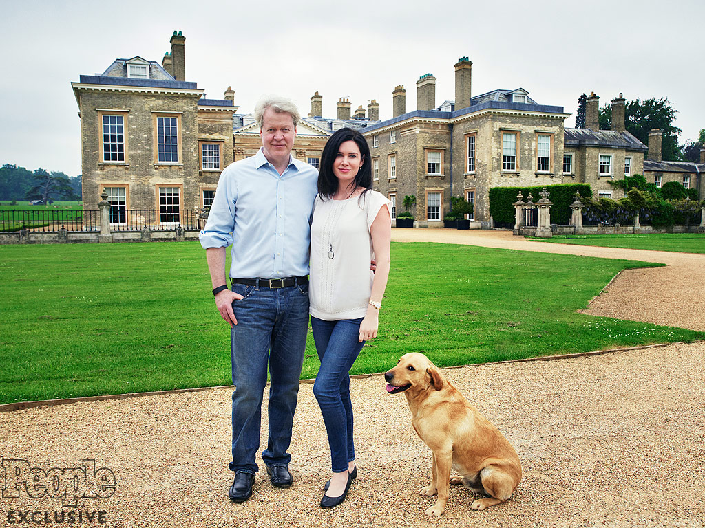 Countess Spencer and her husband, Charles, Earl Spencer photographed at Althorp with their daughter, Lady Charlotte in Northamptonshire on Saturday June 4, 2016.