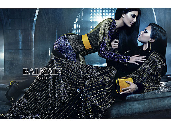 Kendall and Kylie Jenner Balmain fall/winter 2015 ads