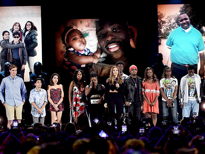 THE AWARDS TOOK A STAND AGAINST GUN VIOLENCE