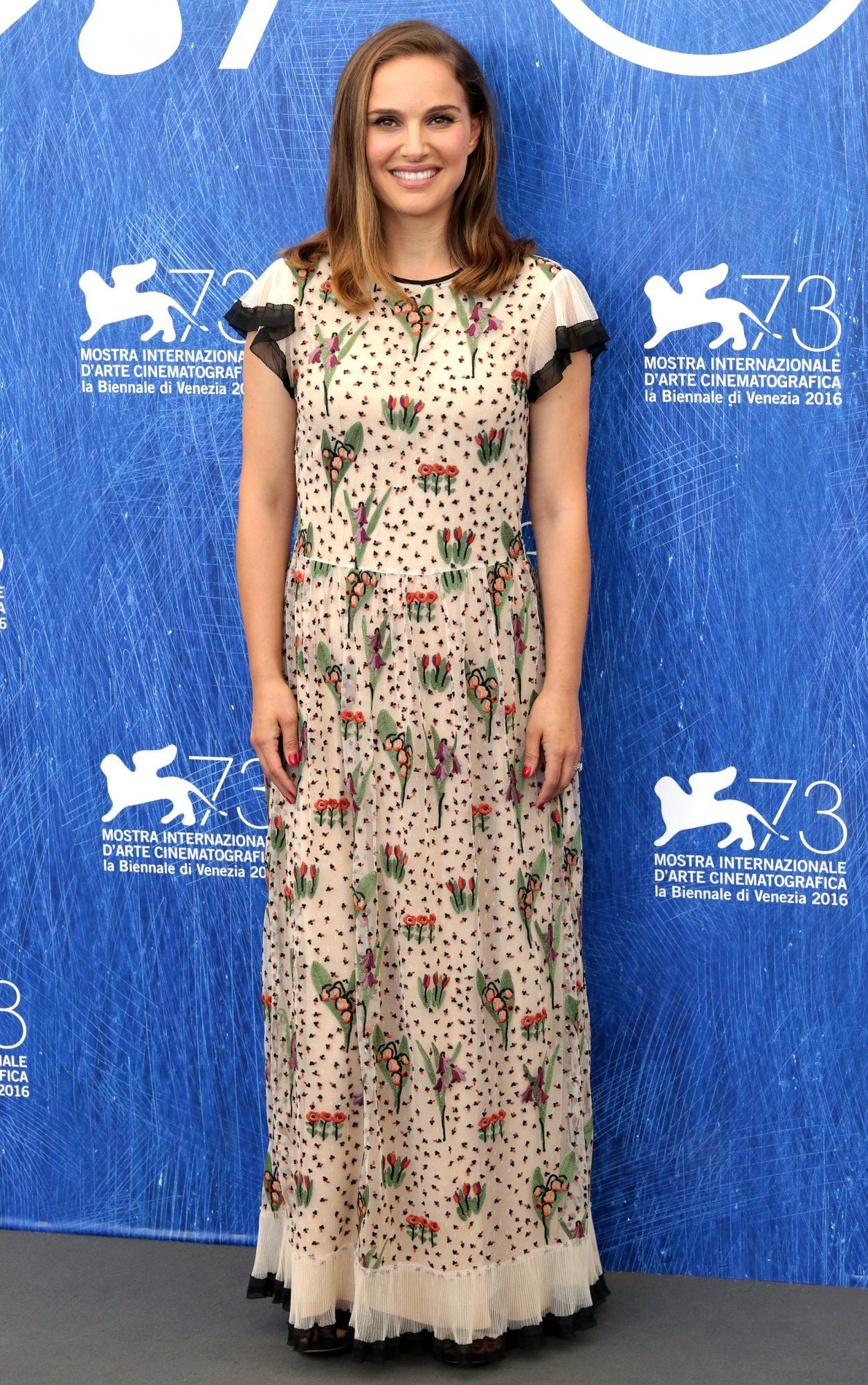 Natalie Portman attends a photocall for 'Jackie' during the 73rd Venice Film Festival at Palazzo del Casino