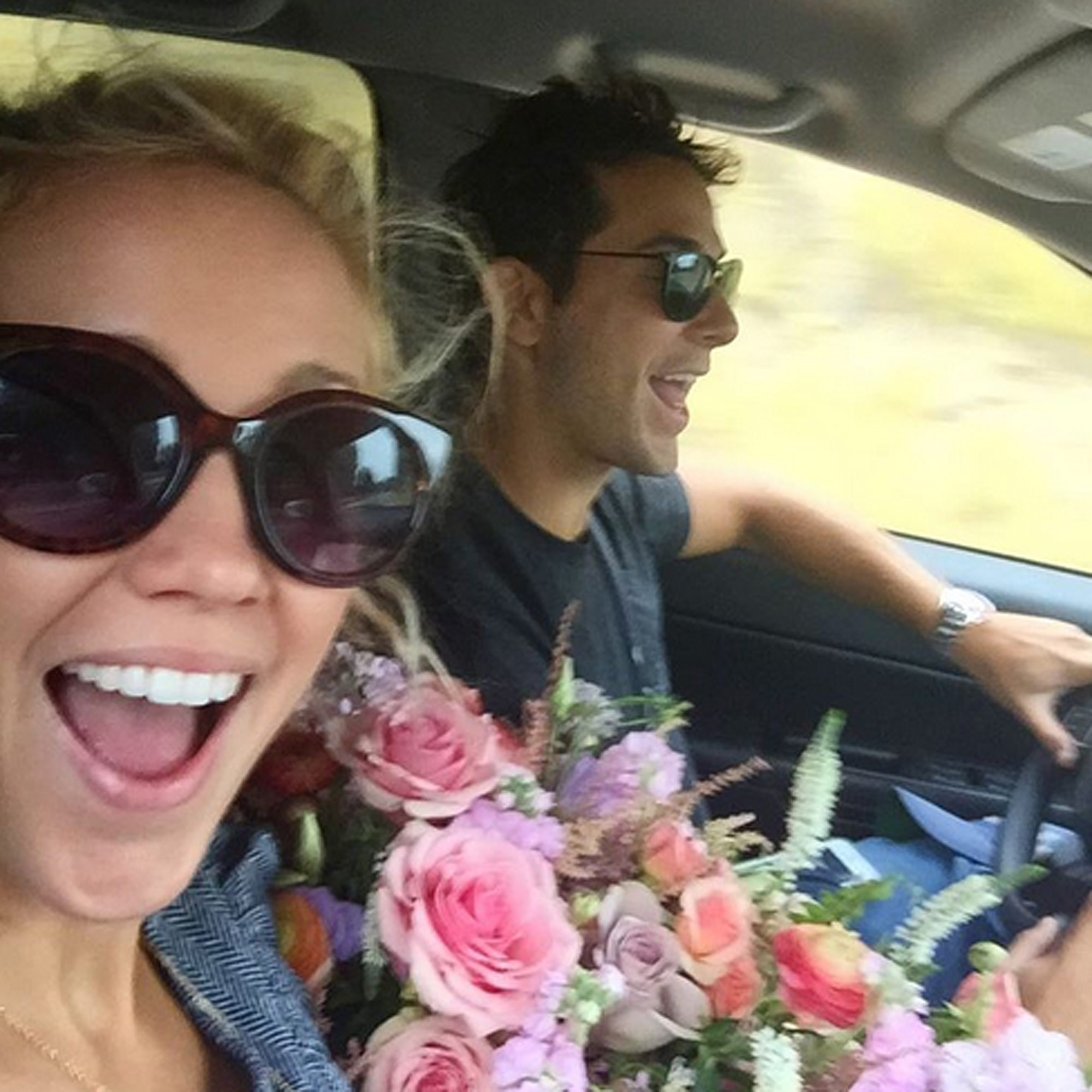 https://www.instagram.com/p/BKTTyfYA06m/?hl=en therealannacamp JUST MARRIED!!!#getawaycar Thanku @lotusandlilyfloral we packed the car with roses!!