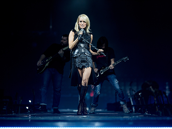 Carrie Underwood Laundry on Road with Son