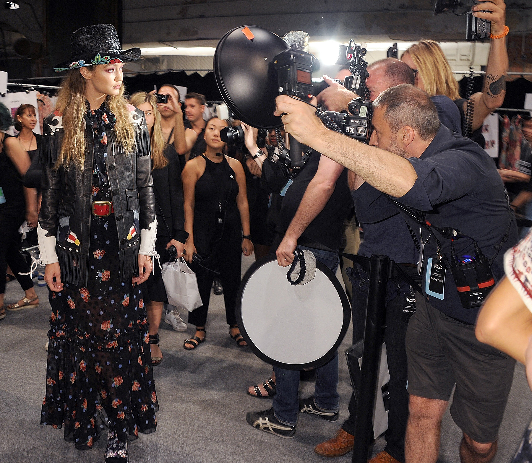 Backstage At Anna Sui Spring/Summer 2017 Fashion Show During NYFW