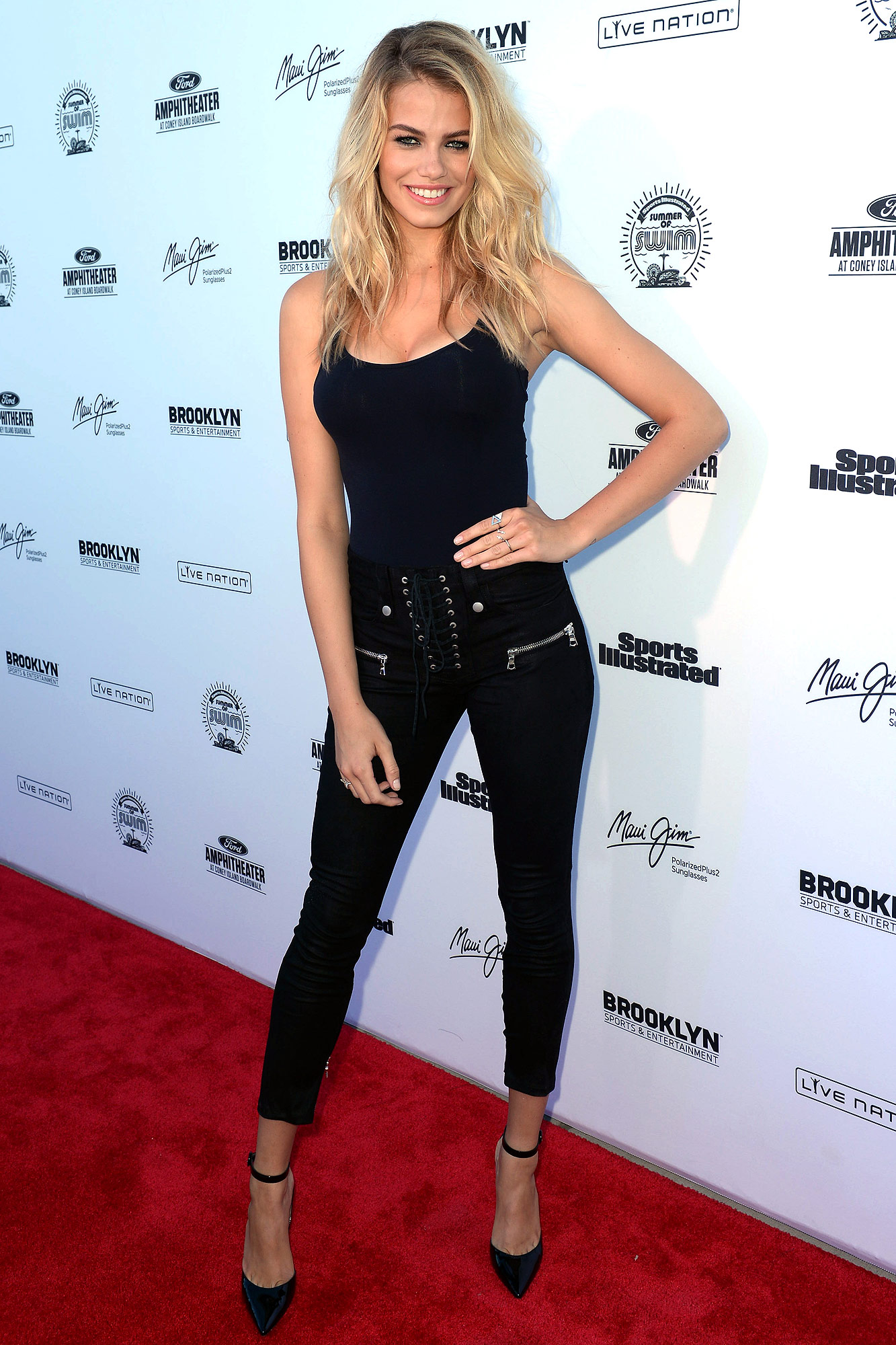 Hailey Clauson attends Sports Illustrated Swimsuit Summer of Swim Fan Festival and Concert at Coney Island Beach and Boardwalk on August 28, 2016 in Brooklyn, New York.
