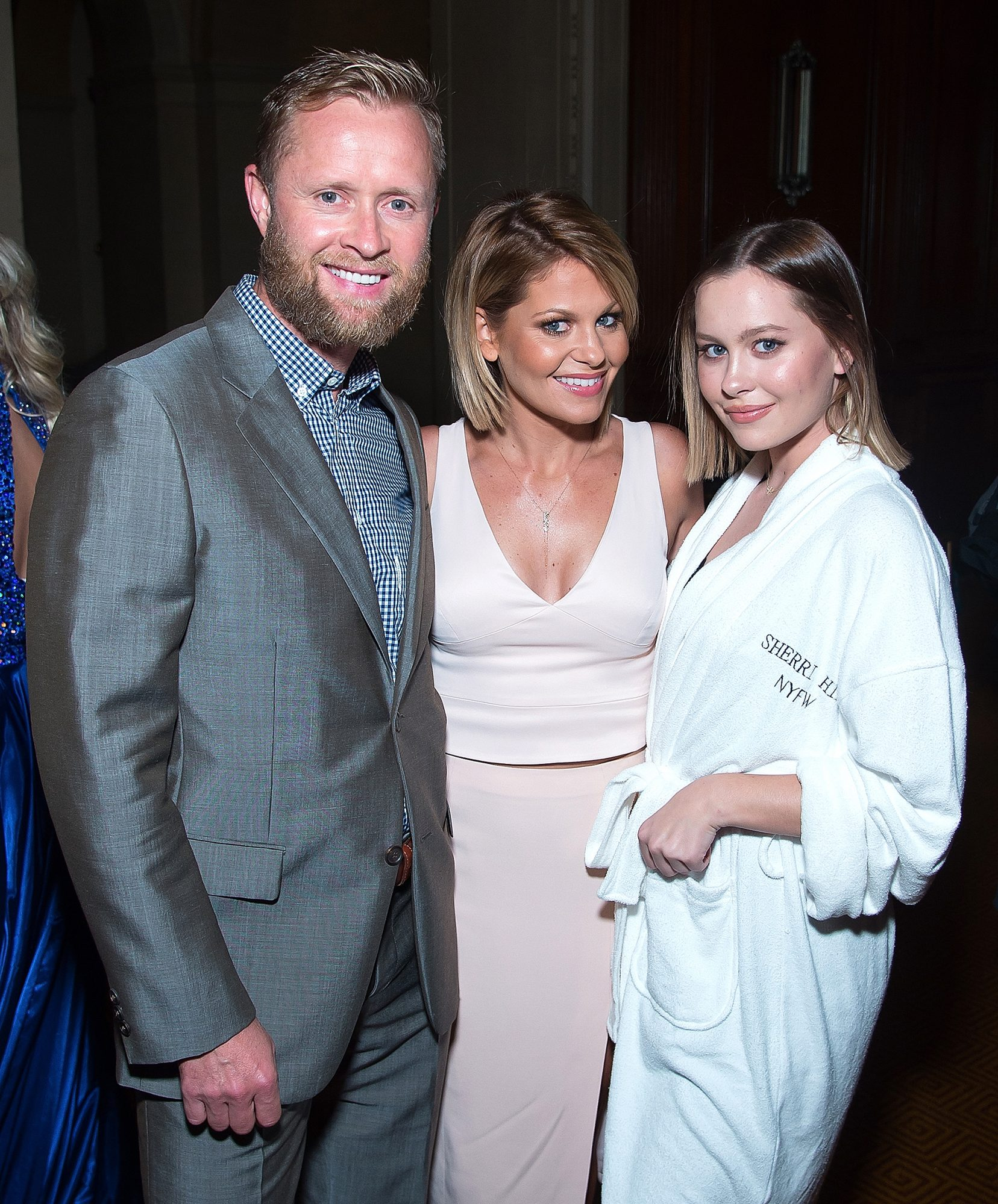 NEW YORK, NY - SEPTEMBER 12: (L-R) Valeri Bure, actress Candace Cameron Bure and Natasha Bure attend the Sherri Hill fashion show during September 2016 New York Fashion Week: The Shows at Gotham Hall on September 12, 2016 in New York City. (Photo by Michael Stewart/WireImage)