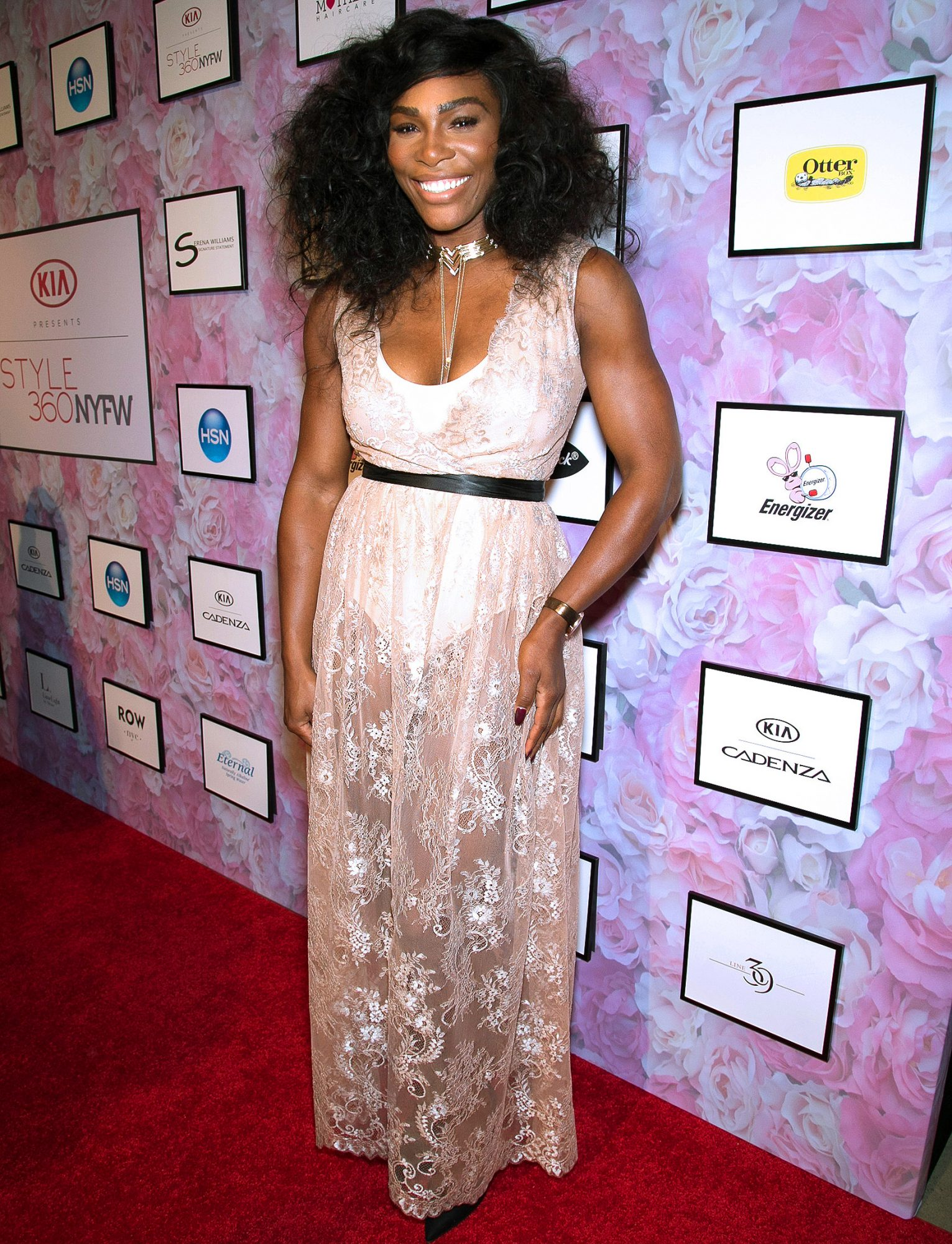 Stars spotted front row and on the red carpet at the Serena Williams Signature Statement Collection by HSN show